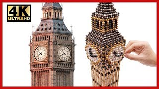 DIY - How To Make Big Ben With 100000 Magnetic Balls ( ASMR ) | Pixel Art by Magnet World 4K