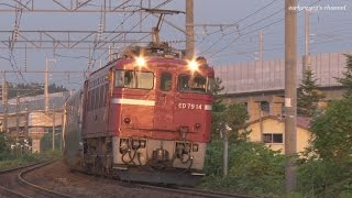 この日は前日2014年6月22日に起きた札苅駅での貨物列車脱線の影響で、本...