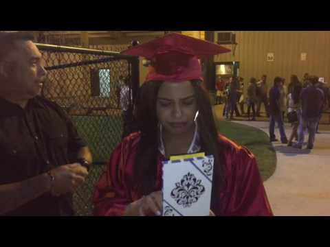 Juanita's EPIC graduation-surprise car gift 2016