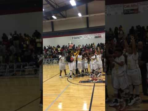 Johnnie Carr Middle School  2017 7th Grade Basketball Team Championship Trophy Celebration