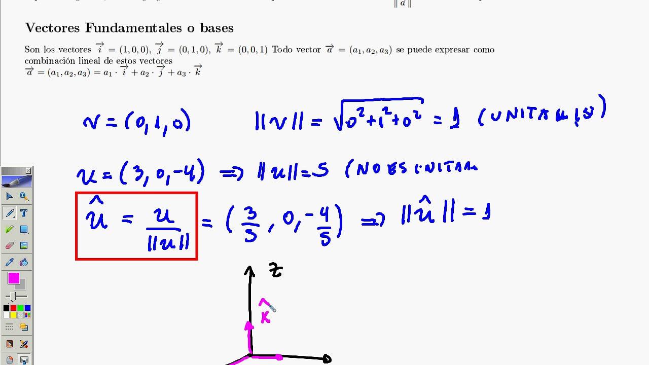 e22ed0c54272a Operaciones basicas de vectores parte 2 - YouTube