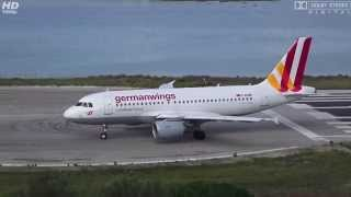 D-AKNM Germanwings Airbus A319-112 TAKEOFF at Airport Corfu, CFU [FULL HD]