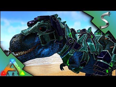 TEK REX SADDLE! MUTATED TEK REX VS ALPHA REX! - Ark: Survival Evolved [S3E91]