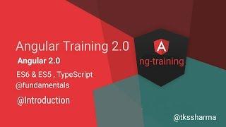 Angular 2.0 Final  Training  Series