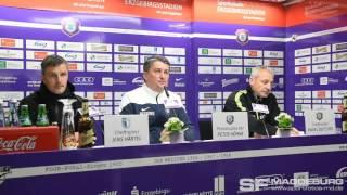 Pressekonferenz - FC Erzgebirge Aue gegen 1. FC Magdeburg 0:0 (0:0) - www.sportfotos-md.de