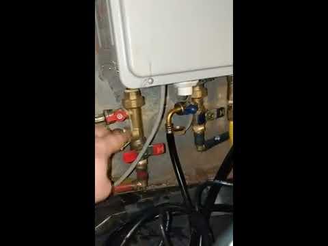 Rheem Tankless Gas hot water heater descaling
