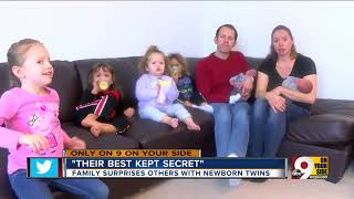 Parents surprise family with second set of twins