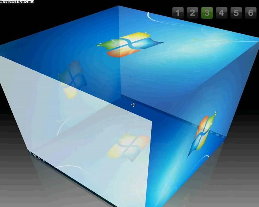 Desktop cube (windows only): 3 steps.