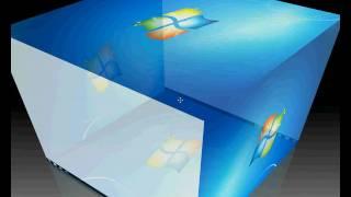 Windows 7 Desktop Cube