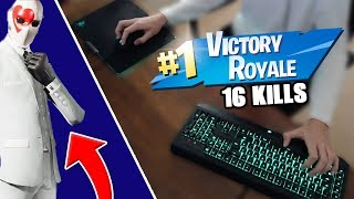 *NEW* HIGH STAKES SKIN & EVENT! (16 KILL SOLO WIN) + KEYBOARD CAM (Fortnite Battle Royale)