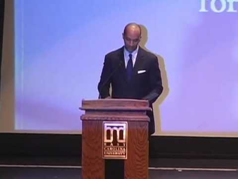 Byron Pitts Delivers the 2008 Annual Carolyn Freeze  Baynes Memorial Lecture in Social Justice Pt. 1