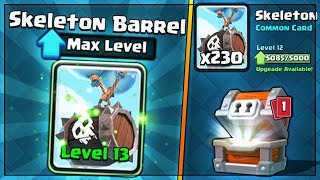 FULLY MAXED SKELETON BARREL UPGRADE! | Clash Royale | NEW CARD MAX GAMEPLAY