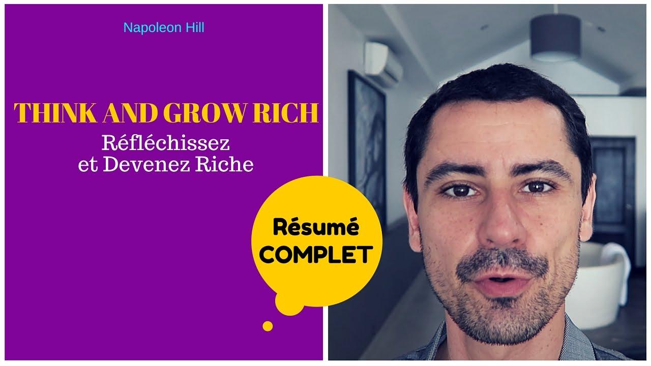 think and grow rich mon résumé en français youtube
