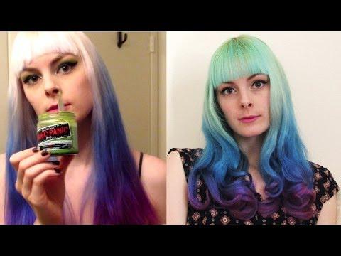 Mint blue hair dye