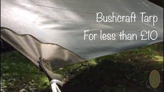 Bushcraft Tarp for less than £10. How to modify a NATO issue IPK into a bushcraft Tarp/Basha.