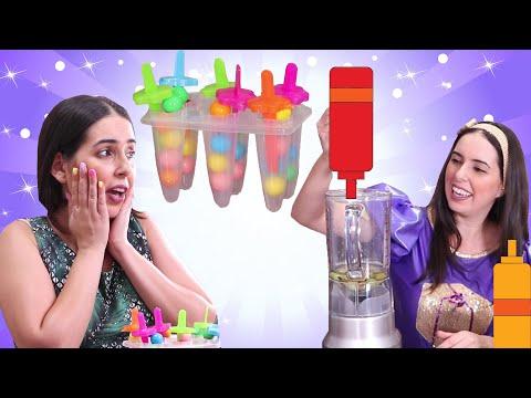 מתכון להכנת ארטיקים מסטיקים 🍧🍬🍦 סרטונים לילדים | יוטיוב לילדים | יוטיוברית לילדים | כוכבת הילדים