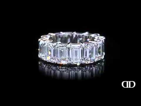 Emerald Cut Diamond Eternity Band By Daniella Design Llc