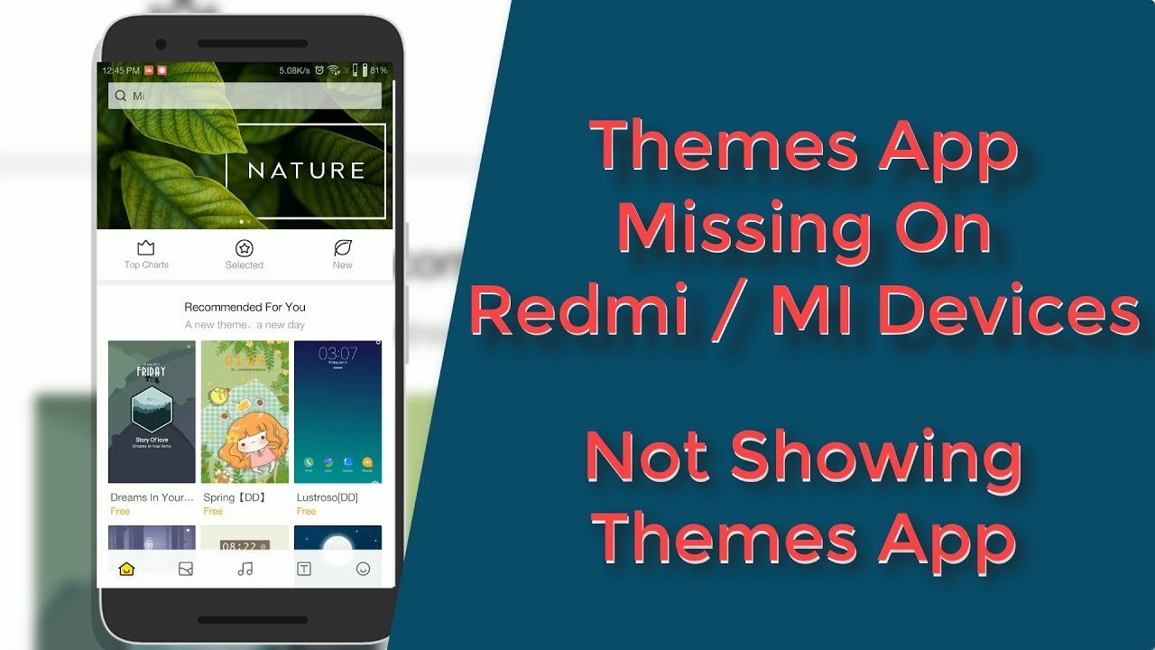 Solution! Themes App Missing on Redmi MI Devices || Themes App Not Showing  on Redmi MI Devices