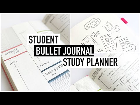 BULLET JOURNALING for STUDENTS | university study planner + exam spreads