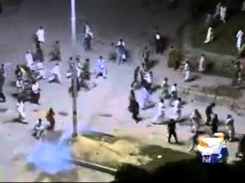 Protesters attack Geo News office in Islamabad-2014