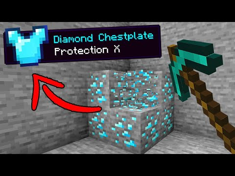 Minecraft, But Ores Drop OP Items…