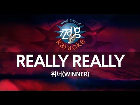 [짱가라오케/원키/노래방] 위너(WINNER)-REALLY REALLY KPOP Karaoke [ZZang KARAOKE]