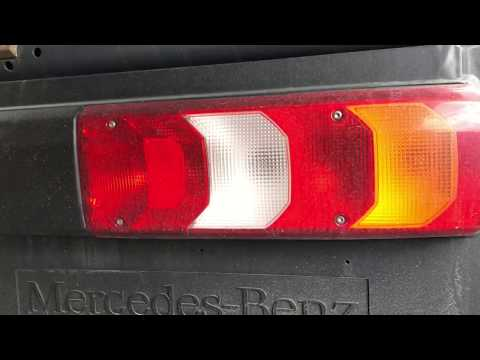 How to replace back light unit tail light replacement tail lamps changing Mercedes Benz Actros 1836