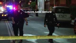 Man Shot Dead Near Church / Los Angeles   RAW FOOTAGE