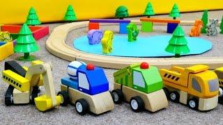 Çocuk oyunları - oyuncak arabalar, inşaat videoları