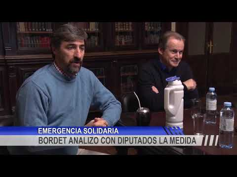 Bordet analizó con diputados del oficialismo el proyecto de ley de emergencia solidaria