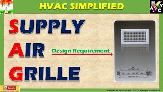 Supply Air Grille's Desigining (Hindi Version)