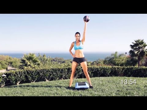 25 Minute Medicine Ball & Step total body workout with voice over