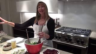 Winter Spice Poached Pear Salad -Kay Goodman