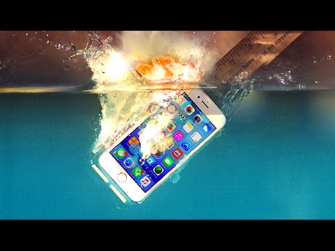 What Happens When You Drop an iPhone 7 with Potassium in Water?? Implosion @18,500 Frames Per Second