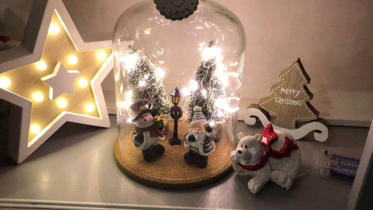 Diy deco noel sous cloche sapin illumin youtube for Youtube decoration de noel