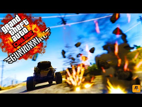 GTA 5 THE MILITARY VS GUNRUNNING DLC - ATTACKING MILITARY BASE GUNRUNNING DLC