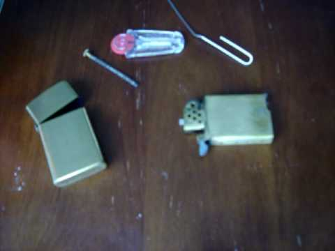 how to take corroded flint out of your lighter