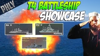 World Of Warships Battleship Gameplay - Tier 4 BATTLESHIP SHOWCASE! Sail Them All! ⚓ Ep.4