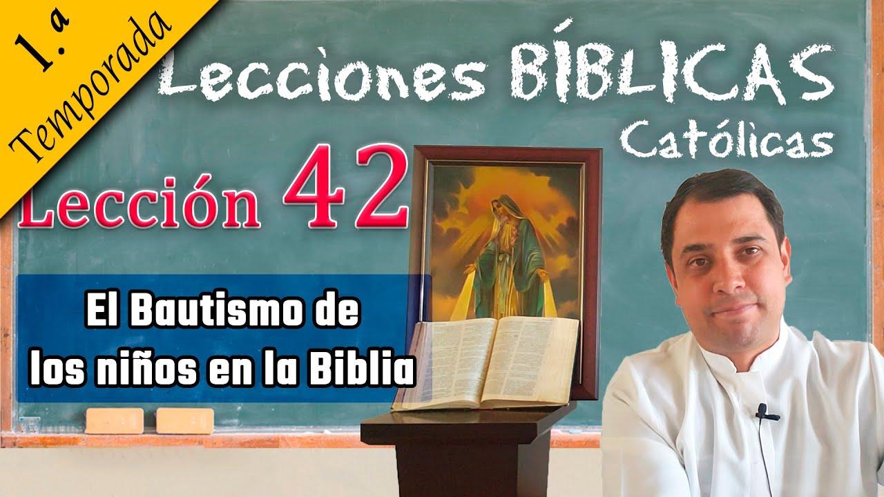 ✅ El Bautismo de los niños en la Biblia - 📚 Lecciones Bíblicas - Padre Arturo Cornejo ✔️