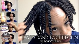 HOW TO TWO STRAND TWIST YOUR 4C NATURAL HAIR | by: ShaniceAlisha