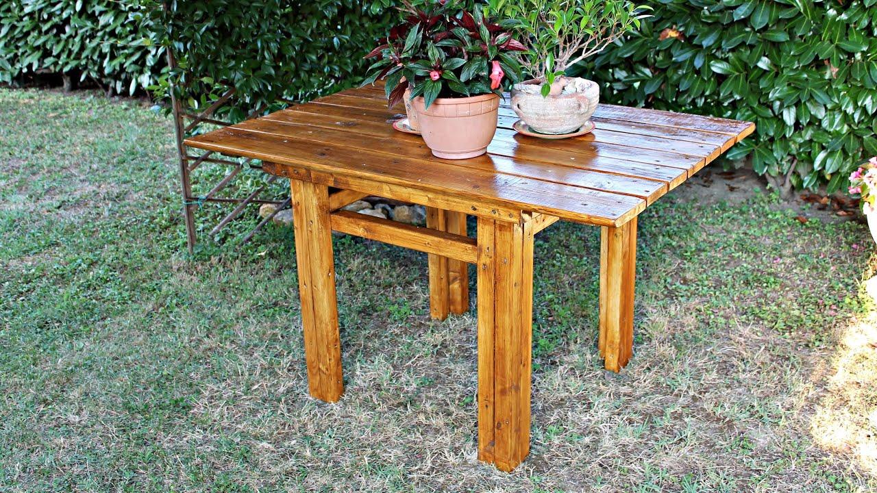 Costruire Un Tavolo Da Giardino In Legno.Come Costruire Un Tavolo In Legno Fai Da Te Youtube