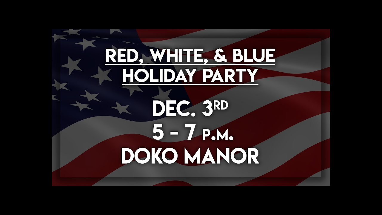red white and blue holiday party invitation onewood youtube