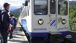 Garmisch Partenkirchen mit der bayerischen Zugspitzbahn nach Eibsee über Schmölz Hammersbach Grainau
