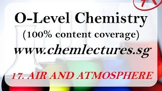 (17th of 19 Chapters) Air and Atmosphere - GCE O Level Chemistry Lecture