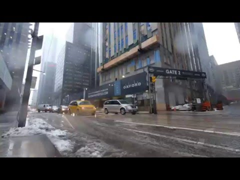 Toronto winter storm timelapse