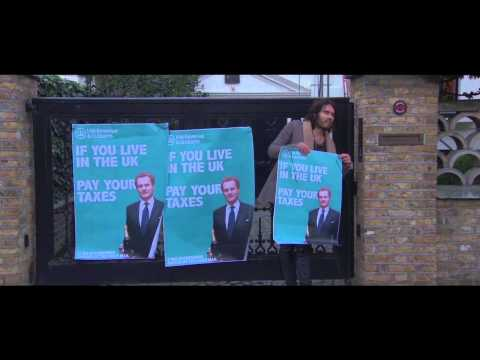 Watch: Russell Brand trespasses on Lord Rothermere's property
