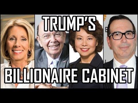 Donald Trump's Billionaire Cabinet The Richest in History [Mr ...