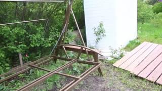 видео Садовые качели