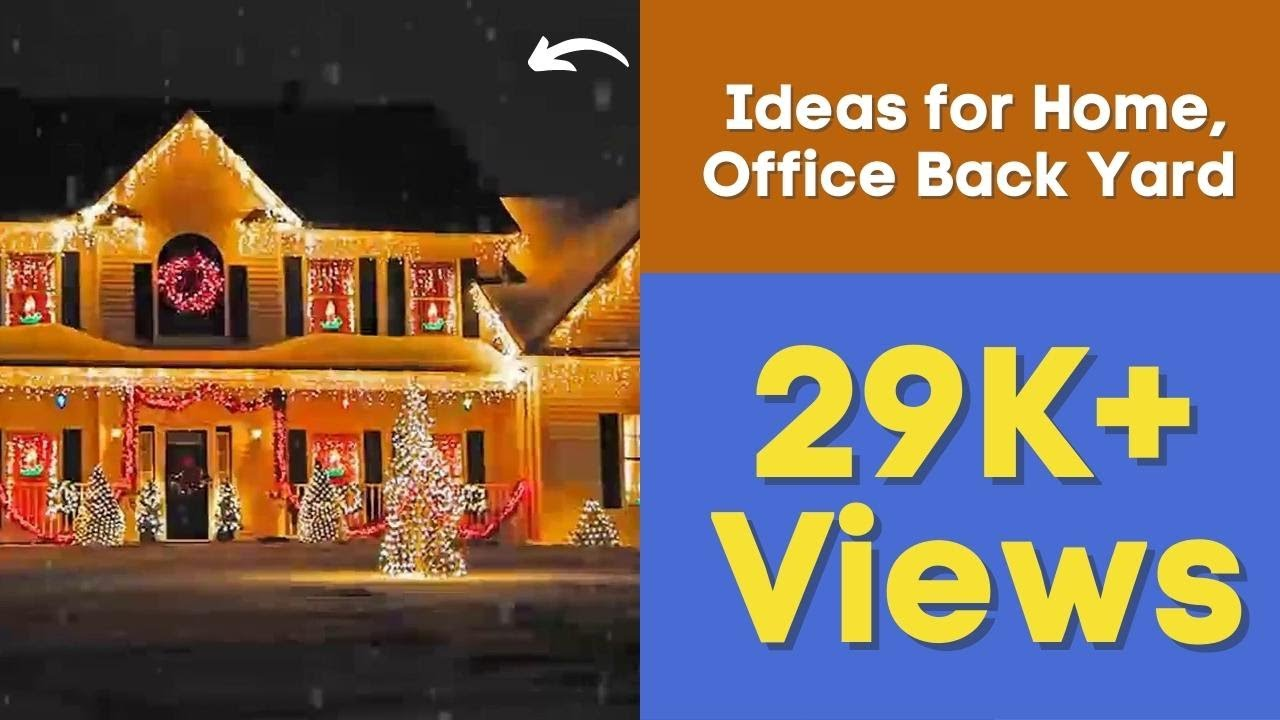 Outdoor Christmas Lighting Decorations Ideas for Home, Office Back Yard -  YouTube