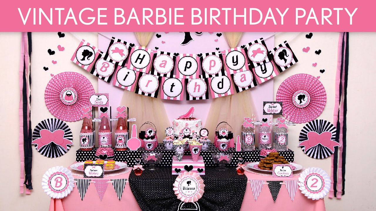 Vintage Barbie Birthday Party Ideas
